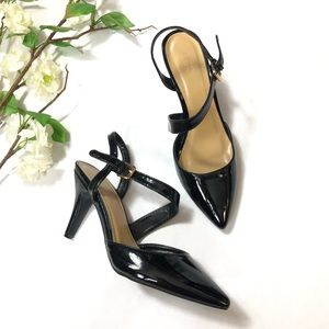 Cato Women's Black Slingback Heels | Size: 9W